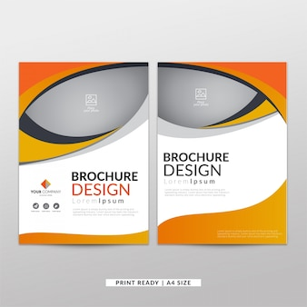 Korporacyjna pomarańczowa broszura