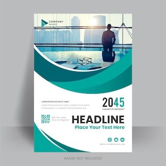 Korporacyjna ulotka biznesowa plakat broszura broszura okładka wzór układu tła wektor szablon