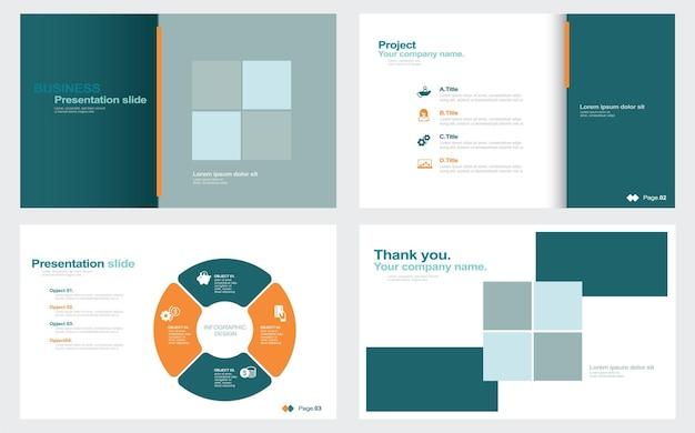 Korporacyjne szablony pokazów slajdów stock ilustracji szablon oprogramowania do prezentacji pokazów slajdów