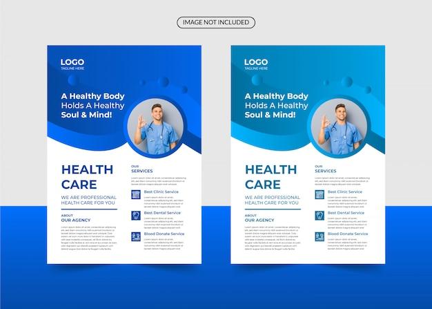 Korporacyjnej opieki zdrowotnej i medycznych szablon ulotki
