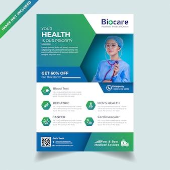 Korporacyjnej opieki zdrowotnej medyczne szablon ulotki a4