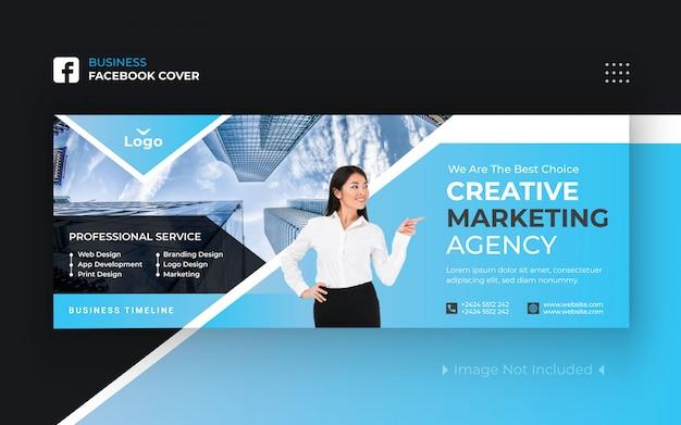 Korporacyjny biznes facebook cover premium