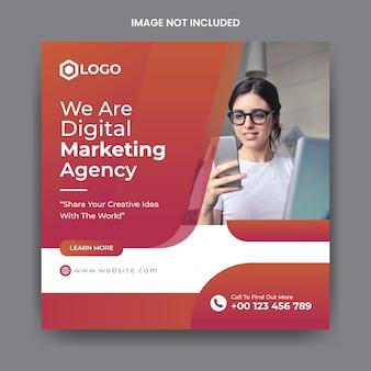 Korporacyjny biznes społecznościowy post i szablon banner www