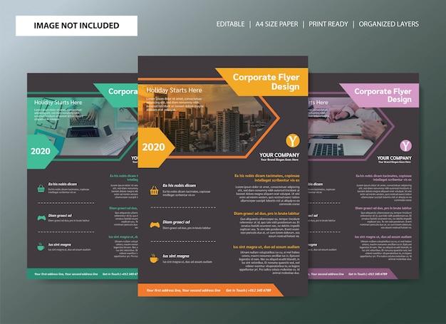 Korporacyjny biznes ulotki plakat szablon projektu