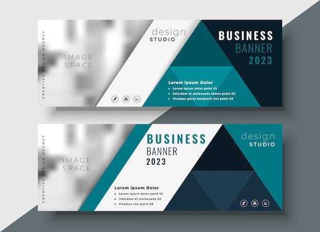 Korporacyjny biznesowy sztandar z teksta i wizerunku przestrzenią