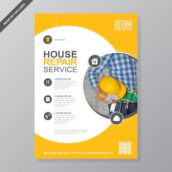 Korporacyjny dom naprawy szablon projektu ulotki