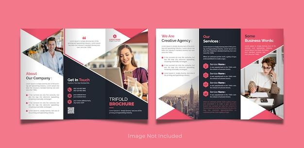 Korporacyjny i biznesowy szablon broszury trójdzielnej
