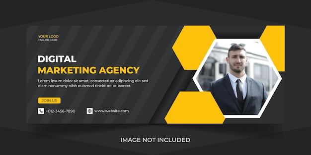 Korporacyjny i cyfrowy marketing biznesowy media społecznościowe szablon projektu wektorowego premium na okładkę na facebook