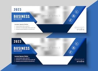 Korporacyjny niebieski projekt banera dla Twojej firmy