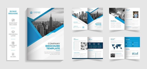 Korporacyjny nowoczesny kreatywny bifold wielostronicowy szablon broszury