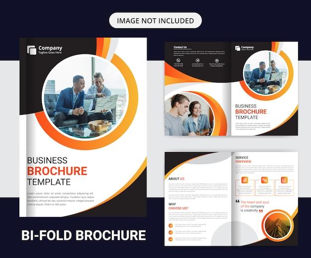 Korporacyjny profesjonalny bifold biznes broszura szablon projektu