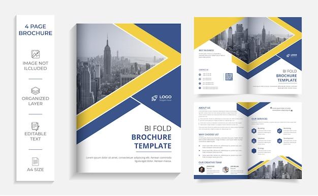 Korporacyjny profesjonalny, nowoczesny bi-fold szablon projektu broszury