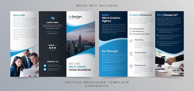 Korporacyjny projekt broszury potrójnej