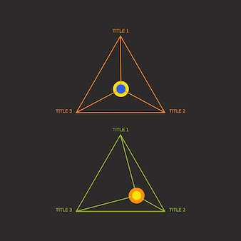 Korporacyjny trójkątny wektor wykresu elementu