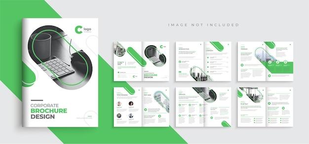 Korporacyjny wielostronicowy projekt szablonu broszury biznesowej minimalny projekt szablonu profilu firmy