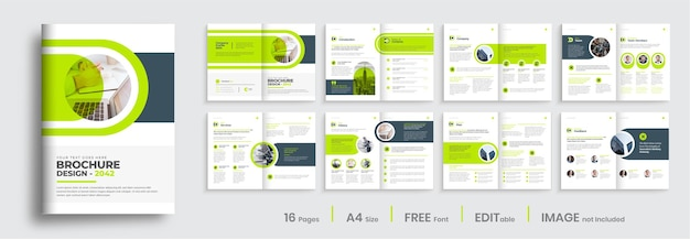 Korporacyjny wielostronicowy szablon projektu broszury biznesowej układ szablonu profilu firmy