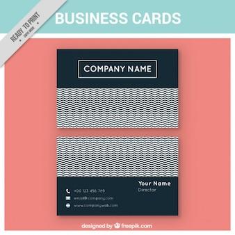 Korporacyjnych kart z zygzakowate linie
