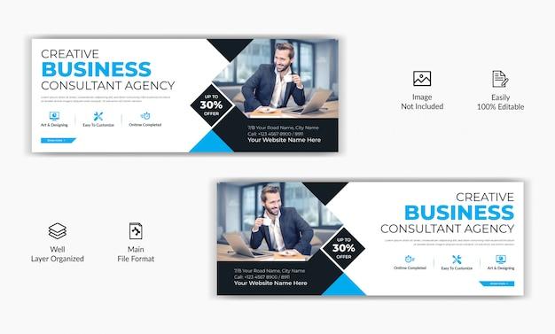 Korporacyjnych przedsiębiorstw marketingowych mediów społecznościowych post facebook okładka strona osi czasu szablon reklamy internetowej banner