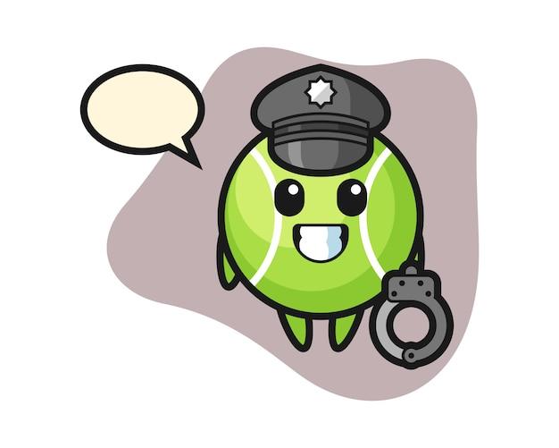 Kort tenisowy jako policja
