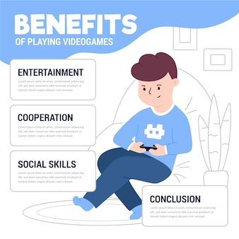 Korzyści z grania w szablon gier wideo z graczem