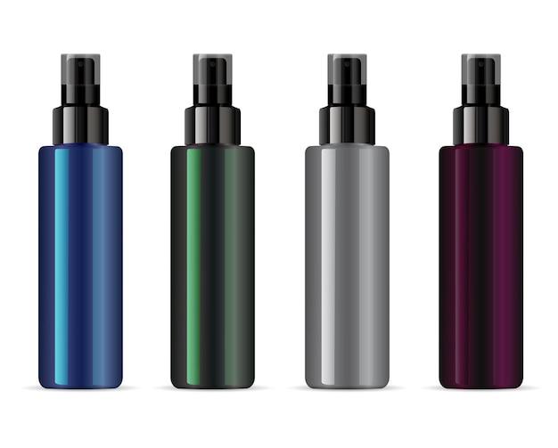 Kosmetyczna butelka z rozpylaczem do ilustracji pojemnika kosmetycznego