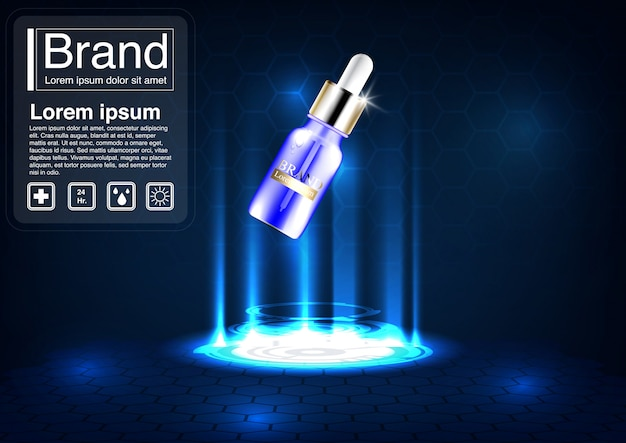 Kosmetyczna koncepcja serum reklamowego.