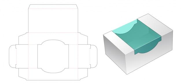 Kosmetyczne pudełko z wykrojnikiem