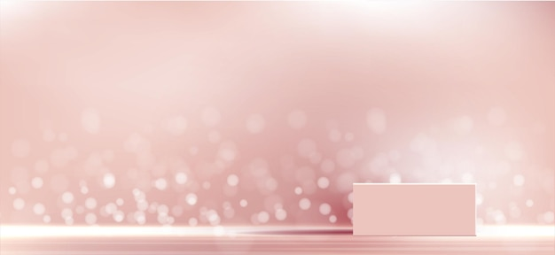 Kosmetyczne tło dla brandingu produktu i geometrii prezentacji opakowań z formowania kwadratowego