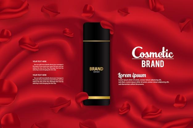 Kosmetyczny baner reklamowy projektowanie opakowań wektor szablon projektu