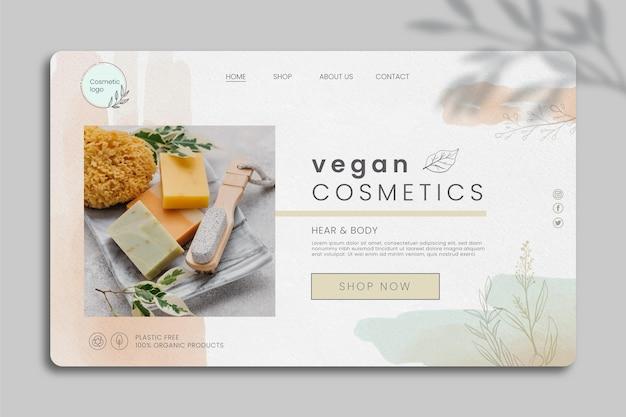 Kosmetyczny szablon internetowy ze zdjęciem
