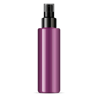 Kosmetyk w sprayu z błyszczącą szklaną butelką