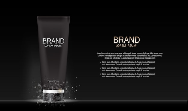 Kosmetyki do makijażu projektowania mody produktu. realistyczny 3d