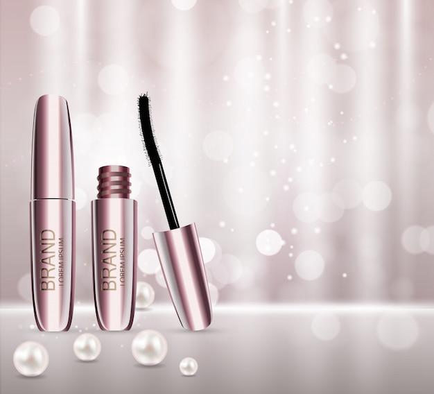 Kosmetyki do makijażu projektowania mody produktu