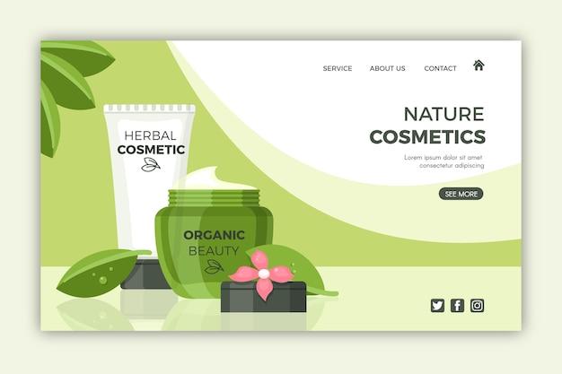 Kosmetyki naturalne - landing page