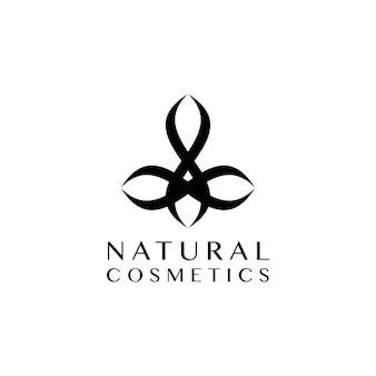 Kosmetyki naturalne projektowanie logo wektor