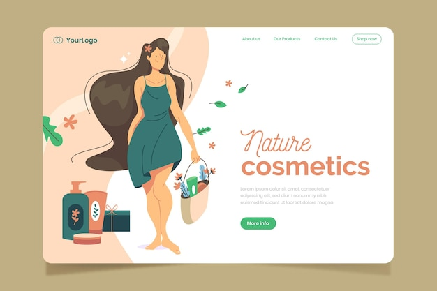 Kosmetyki naturalne - strona docelowa