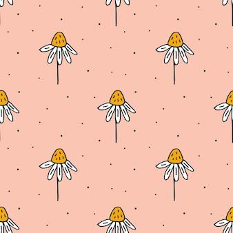 Kosmetyki organiczne doodle ręcznie rysowane linii sztuki wzór