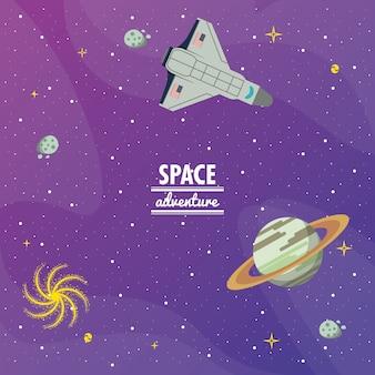 Kosmiczna przygoda z galaktyki rakiety kosmicznej