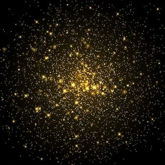 Kosmiczne galaktyki tła z gwiazdami