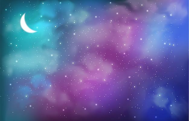 Kosmiczne tło z abstrakcyjnymi kolorami