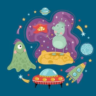 Kosmiczny styl kreskówek