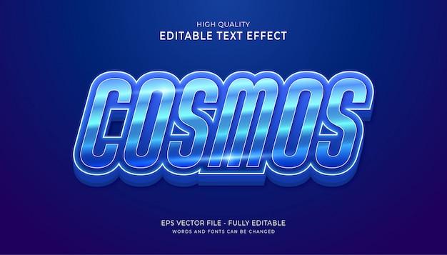 Kosmos edytowalny efekt tekstowy. edytowalny efekt stylu tekstu gry.