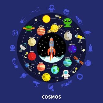 Kosmos ilustracja koncepcja
