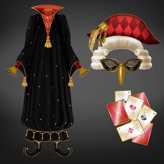 Kostium jokera lub błazna realistyczny