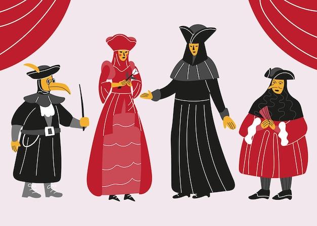 Kostiumy karnawałowe weneckie