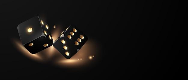 Kostki do gry w kasynie pływające realistyczne żetony do hazardu, gotówka do ruletki lub pokera,