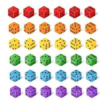 Kostki izometryczne od jednego do sześciu