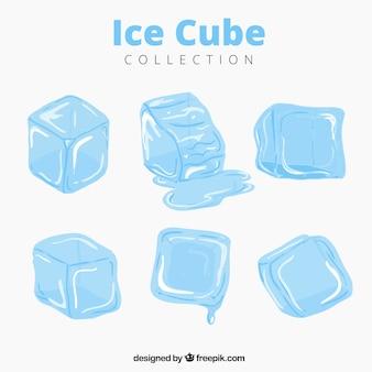 Kostki lodu topienia kolekcji