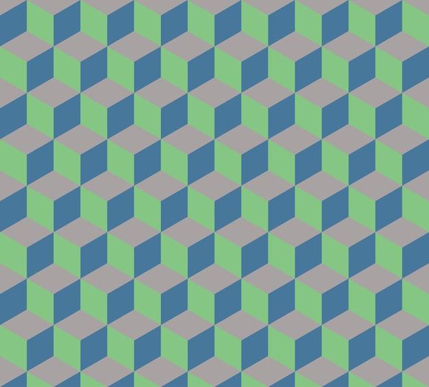 Kostki wzór 3d, geometryczne proste tło. elegancka i luksusowa ilustracja w stylu