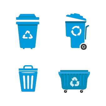 Kosz na śmieci wektor ikona ilustracja projektu szablon